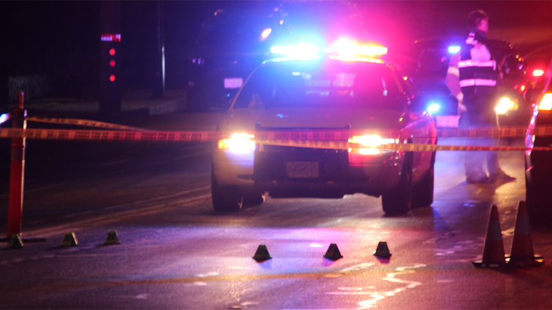 Mounties in Coquitlam are searching for a driver who struck and killed a pedestrian and did not remain at the scene.
