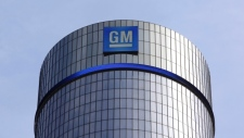 This May 5, 2011 file photo shows the General Motors headquarters in Detroit. (AP /Paul Sancya)