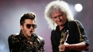 Adam Lambert, left, and Brian May of Queen perform at the Rock in Rio music festival in Rio de Janeiro, Brazil in this Sept. 19, 2015 file photo. (File/THE ASSOCIATED PRESS)
