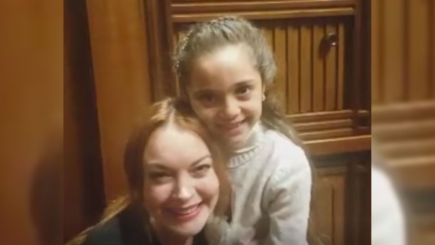 Lindsay Lohan Meets Turkey's Erdogan, Syrian Child Refugee