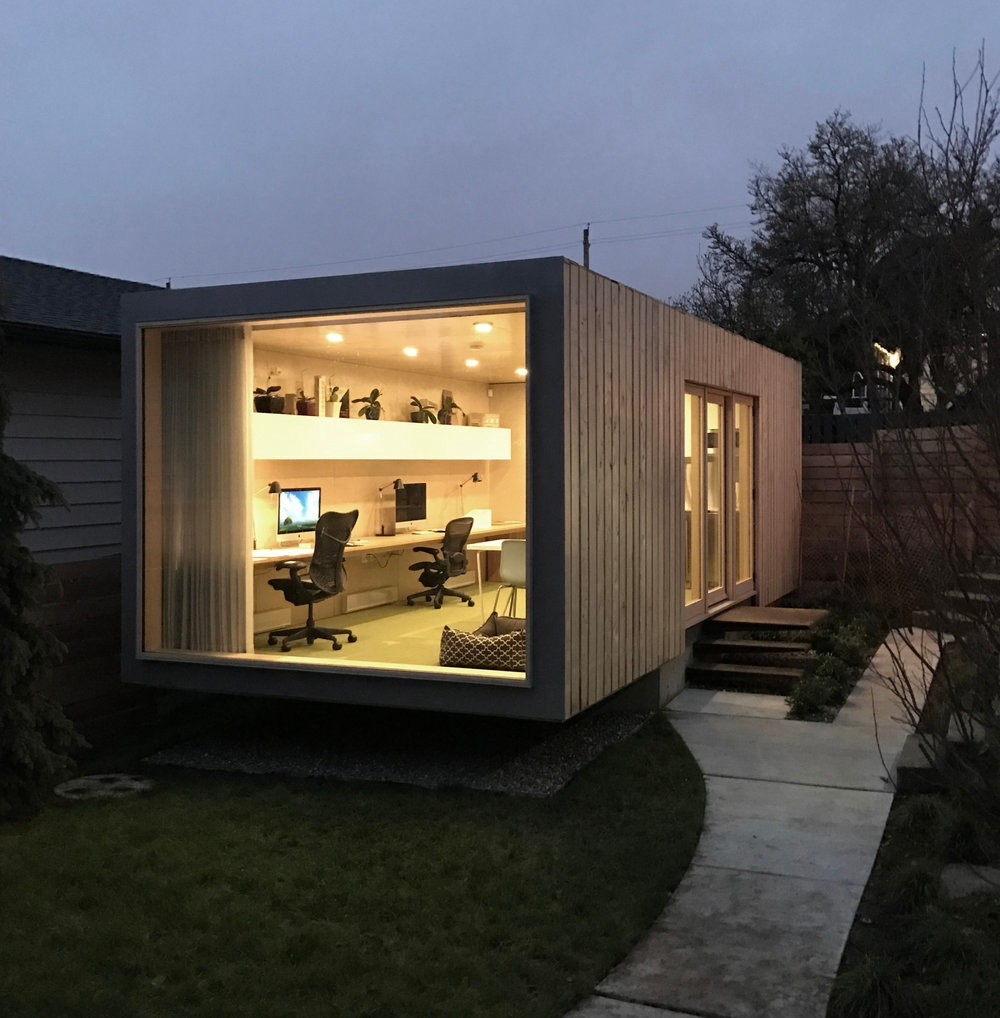 Architect Turns Shipping Container Into Dream Office