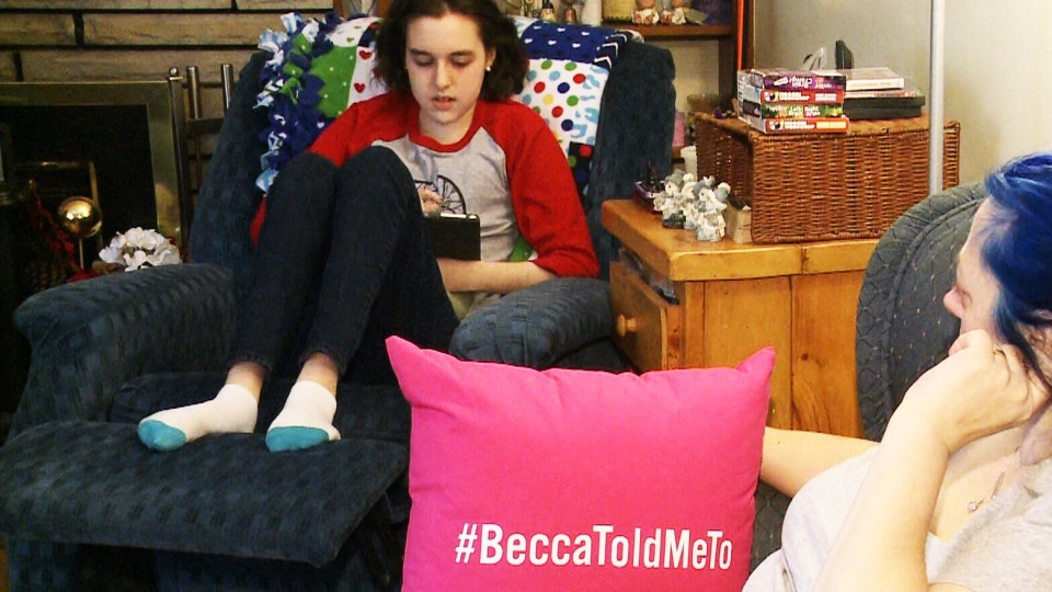 Becca Schofield isn't let her cancer diagnosis get her down. She has received international since beginning her #BeccaToldMeTo campaign, which encourages people to do good deeds for others.