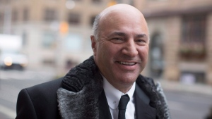 Conservative leadership candidate Kevin O'Leary arrives at a television studio for an interview in Toronto, Wednesday, Jan. 18, 2017. (Chris Young / THE CANADIAN PRESS)