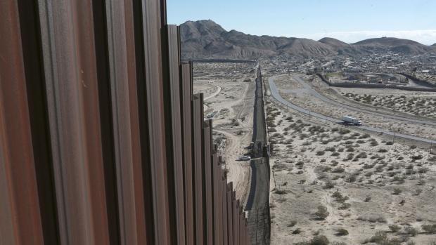 Mexico-US border fence
