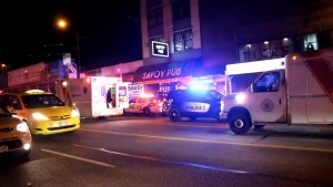 Officers were called to the Savoy Hotel on East Hastings Street on the Downtown Eastside around 10:30 p.m. for reports of a shooting. (CTV News). Jan. 27, 2017.