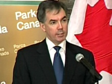 Environment Minister Jim Prentice makes the announcement in Ottawa, Thursday, March 5, 2009.