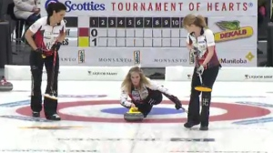 Jennifer Jones at Manitoba Scotties