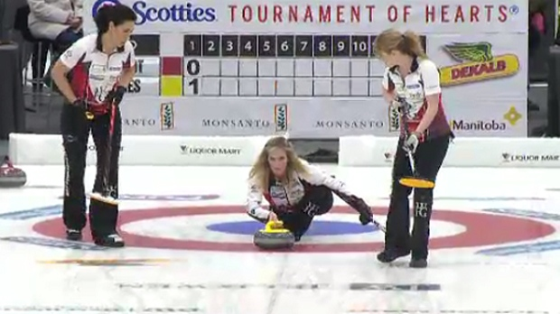 Jennifer Jones at Manitoba Scotties