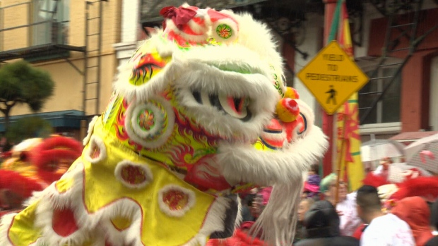Hundreds of people gathered in Victoria's Chinatown on Sunday to celebrate the second day of the Lunar Year with a traditional lion dance. Jan. 29, 2017 (CTV Vancouver Island)