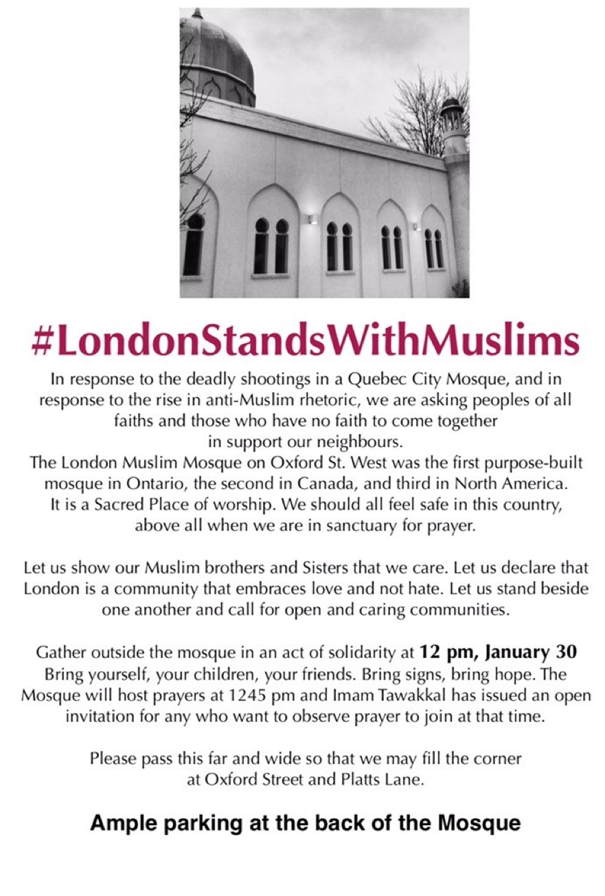 Invitation from the London Muslim Mosque.