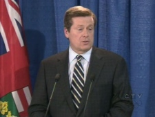 John Tory - speaking to supporters in Lindsay after a byelection loss on Thursday, March 5, 2009 - said he respects the voters' decision.