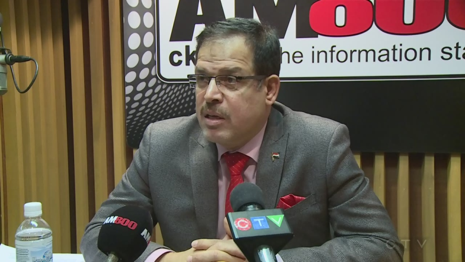 Iraqi Ambassador to Canada Abdul Kareem Kaab in Windsor Ont. on Jan. 20, 2017 (Angelo Aversa/CTV)