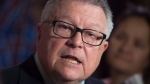 Public Safety Minister Ralph Goodale speaks with the media following Question Period Monday Jan. 30, 2017 in Ottawa. (Adrian Wyld / THE CANADIAN PRESS)