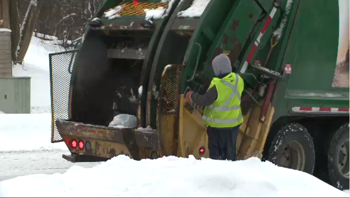 Winter garbage collection in Kitchener