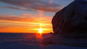 Sunday morning ice fishing on Lake Winnipeg. Photo by Stacey Napoleone.