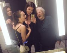 Mahri Smith selfie with elderly woman