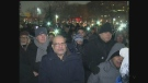 Hundreds turned out to a vigil in Windsor to honour the victims of the Quebec City mosque shooting. (Angelo Aversa / CTV Windsor)