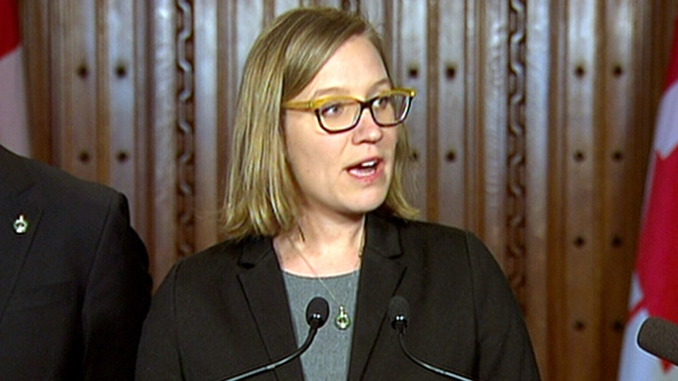 Democratic Institutions Minister Karina Gould makes an announcement in Ottawa, Wednesday, Feb. 1, 2017.