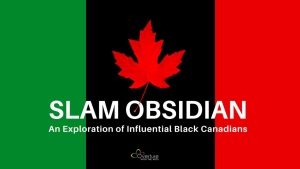 Slam Obsidian is a multimedia presentation about Black History created by Akilah and Omari Newton