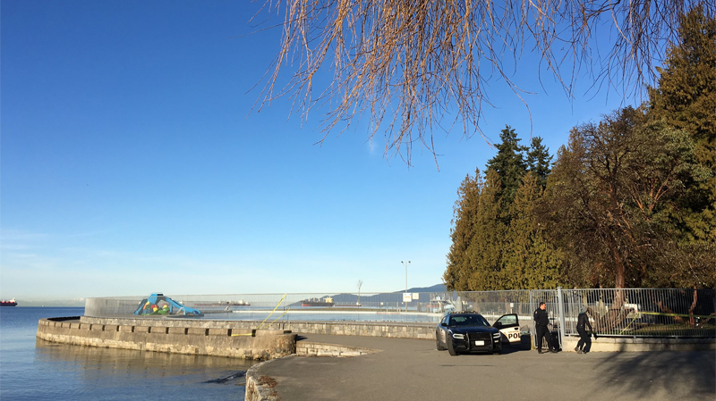 Police turn away seawall users at Second Beach because of a homicide investigation. (CTV)