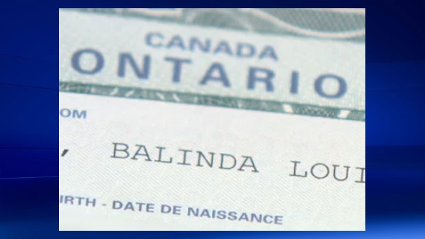 Belinda Barber's reissued birth certificate with the incorrect spelling of her name