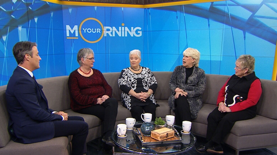 Beverly Brown, Louise Bardswich, Martha Casson and Sandy McCully appear on CTV's Your Morning on Friday, Feb. 3, 2017.