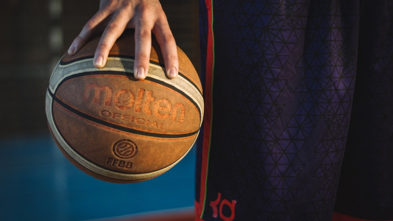 A basketball is seen in this undated file photograph. (Pexels)