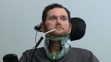 Troy Kraus at Ottawa Hospital Rehab Centre.