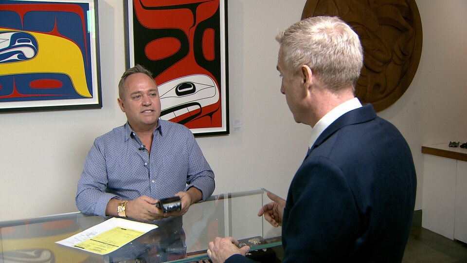Douglas Reynolds, owner of Douglas Reynolds Gallery, is out thousands of dollars after his business was hit by distraction fraud. (CTV)