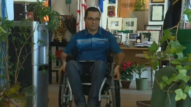 The Quebec Human Rights Commission has ordered the Universite de Montreal to pay Omar Lachheb $10,000 after he was unable to locate a wheelchair-accessible washroom in one of their buildings.