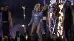 Singer Lady Gaga performs during the halftime show of the NFL Super Bowl 51 football game between the New England Patriots and the Atlanta Falcons in Houston on Sunday, Feb. 5, 2017. (AP / Patrick Semansky)