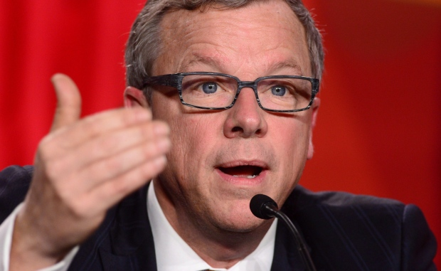 Saskatchewan Premier Brad Wall speaks during the closing press conference of the Meeting of First Ministers and National Indigenous Leaders in Ottawa on Friday, Dec. 9, 2016. (THE CANADIAN PRESS/Sean Kilpatrick)