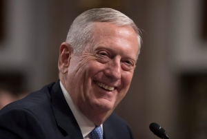James Mattis smiles as he testifies on Capitol Hill in Washington, Thursday, Jan. 12, 2017, at his confirmation hearing before the Senate Armed Services Committee. (AP Photo/J. Scott Applewhite)