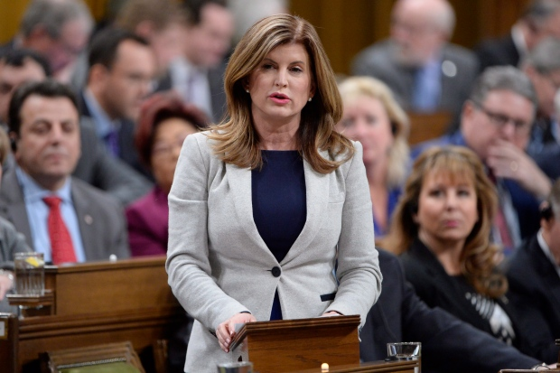 Interim Conservative Leader Rona Ambrose rises during question period in the House of Commons in Ottawa, Monday, Feb.6, 2017. (Adrian Wyld / THE CANADIAN PRESS)