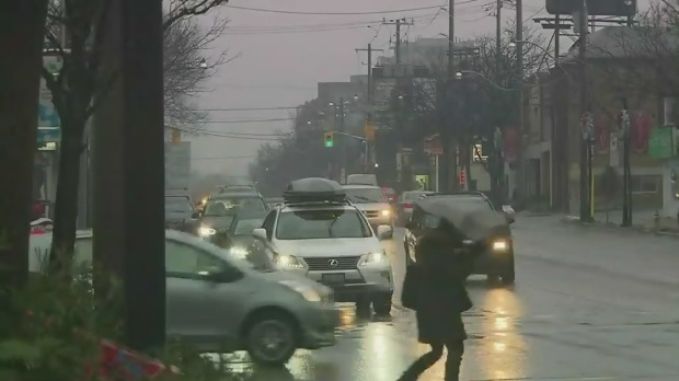 Heavy rain, mild weather causing trouble on Toronto roads, waterways