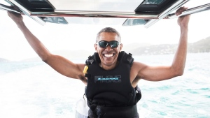 Former president Barack Obama spent his vacation at Richard Branson's private island in the Caribbean. (Jack Brockway)