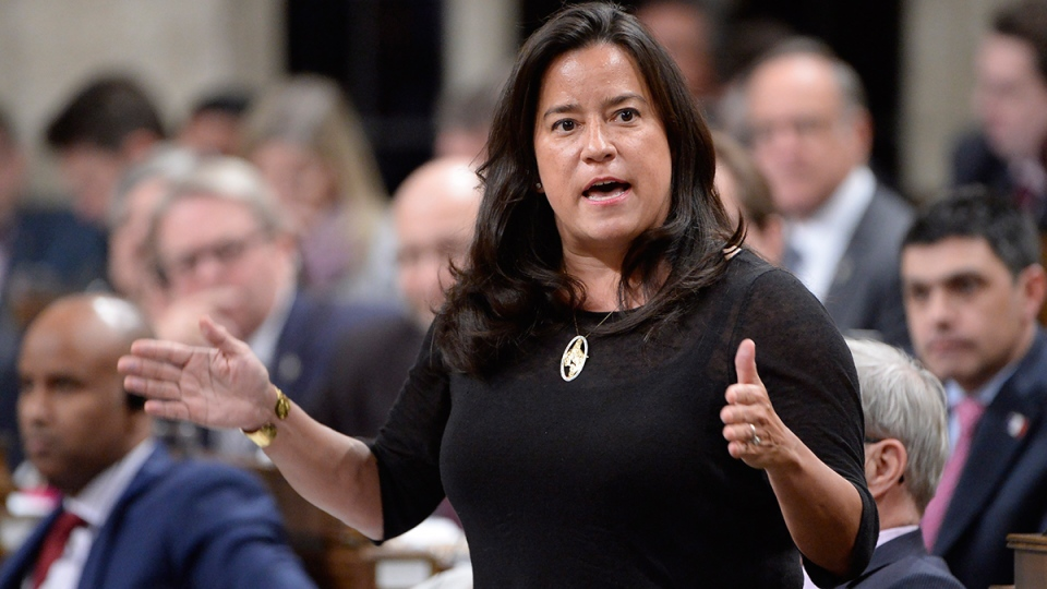 Justice Minister Jody Wilson-Raybould answers a question in the House of Commons on Monday, Feb. 6, 2017. (Adrian Wyld / THE CANADIAN PRESS)