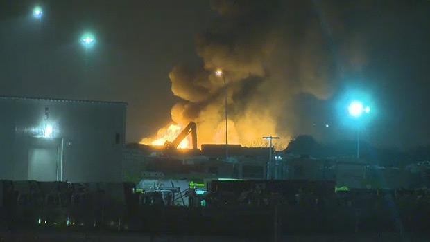 Scrap fire - Strathcona County