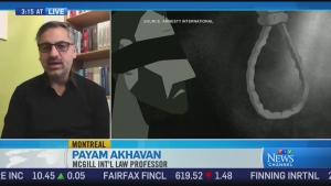Former UN war crimes prosecutor Payam Akhavan spea