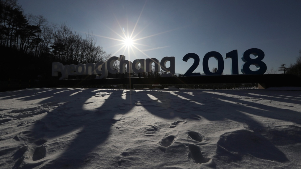 2018 Pyeongchang Olympic Winter Games sign