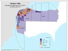 Windsor population map