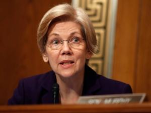 In this Jan. 17, 2017 file photo, Sen. Elizabeth Warren, D-Mass., questions Education Secretary-designate Betsy DeVos on Capitol Hill in Washington, at DeVos' confirmation hearing before the Senate. (AP / Carolyn Kaster)