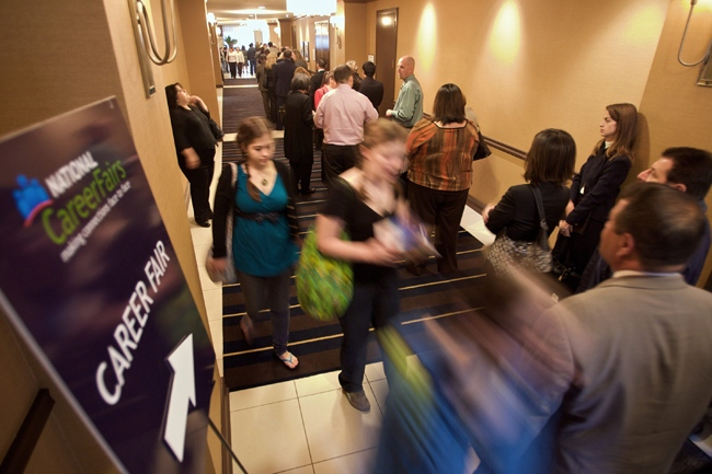 Statistics Canada says the economy added a surprisingly strong 59,000 jobs last month, dropping the country's unemployment rate by 0.2 points to 7.2 per cent -- the lowest since June. (AP Photo/Damian Dovarganes)