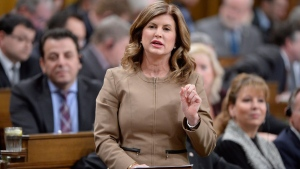 Interim Conservative Leader Rona Ambrose rises during Question Period in the House of Commons in Ottawa, Wednesday, Feb.8, 2017. THE CANADIAN PRESS/Adrian Wyld