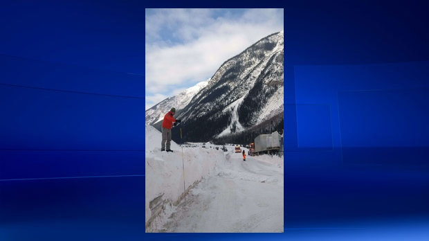 Ice on the Mountain: Avalanche Blocks Trans-Canada Highway