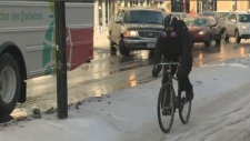 Winter cycling Montreal