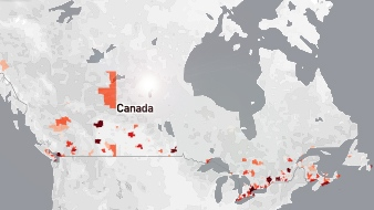 Canada S Population Interactive Map Graphics And Charts