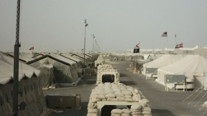 A Canadian military base in Kuwait