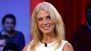 This Dec. 1, 2016 file photo shows Kellyanne Conway prior to a forum at Harvard University's Kennedy School of Government in Cambridge, Mass. (Charles Krupa/AP)