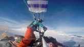 New winter sport: Snowmobiling meets paragliding